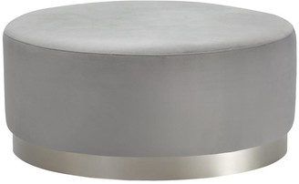 Future Classics Furniture Padthaway Ottoman Light Grey With Silver Base Large
