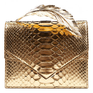 RALPH & RUSSO Gold Python Clutch bags