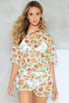 Nasty Gal Forbidden Fruit Top and Shorts Cover-Up