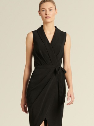 DKNY Donna Karan Women's Sheath Wrap Dress - Black - Size 00