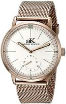 Adee Kaye Men's AK9044N-MRG Vintage Slim Mechanical Hand-Wind Rose Gold-Tone Stainless Steel Watch