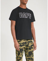 A Bathing Ape Mens Camo Graphic Iconic Logo-Print Cotton-Jersey T-Shirt