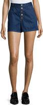Rag & Bone Bronson High-Waist Denim Shorts, Indigo