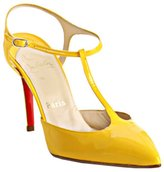 yellow patent leather 'Coxinelle' t-strap pumps