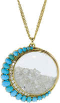 Renee Lewis Persian Turquoise and Diamond Shake Necklace