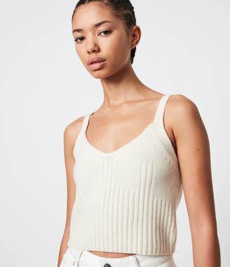 AllSaints Drew Cashmere-Wool Crop Top