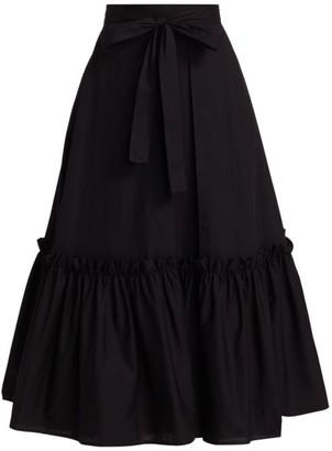 Rosetta Getty Poplin A-Line Midi Skirt