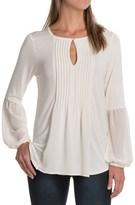 August Silk Pintuck Shirt - Rayon, Long Sleeve (For Women)