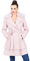 Betsey Johnson Sweetheart Wool Coat With Faux Fur Collar