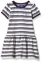 Gant Baby-Girls Sc. Girl Pique Dress Striped Dress