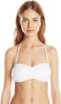 Anne Cole Women's Twist Bandeau Bra Bikini Top