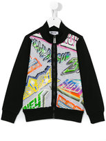Moschino Kids - printed jacket - kids - Cotton/Spandex/Elastane - 10 yrs