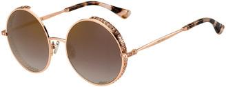 Jimmy Choo Round Metal Sunglasses