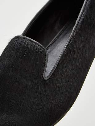 Very Mel Leather Slipper Cut Loafers - Black