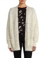 Saint Laurent Embellished Wool Cardigan