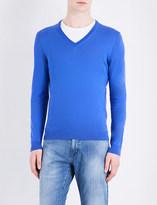 HUGO BOSS V-neck cotton jumper