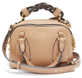 Chloé Daria Small Grained-leather Cross-body Bag - Brown