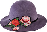 San Diego Hat Company Women's Brushed Wool Floppy Hat with Floral Patch WFH8052