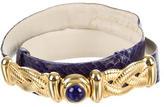 Judith Leiber Purple Snakeskin Waist Belt