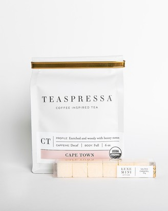Express Teaspressa Cape Town Tea Pouch + Salted Caramel Mini Luxe Cube Set