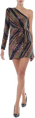 Self-Portrait Asymmetric Short Dress