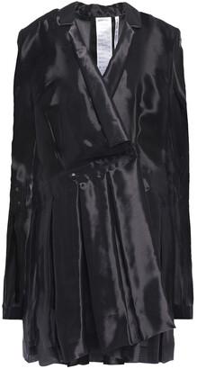 Helmut Lang Wrap-effect Organza Mini Dress