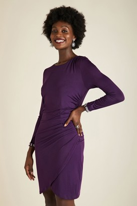 Yumi Purple Ruched Bodycon Dress