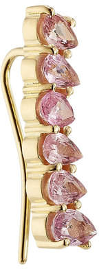Ileana Makri 18kt Yellow Gold Ear Cuff with Pink Sapphires