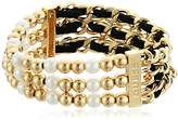 GUESS Pearl Suede Stretch Bracelet