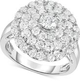 Macy's Diamond Circle Cluster Ring (2 ct. t.w.) in 14k White Gold