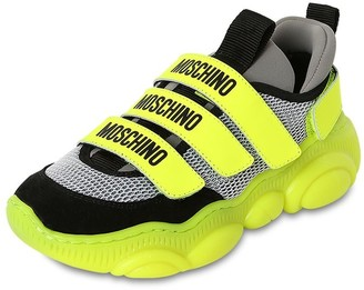 Moschino Leather & Neoprene Strapped Sneakers