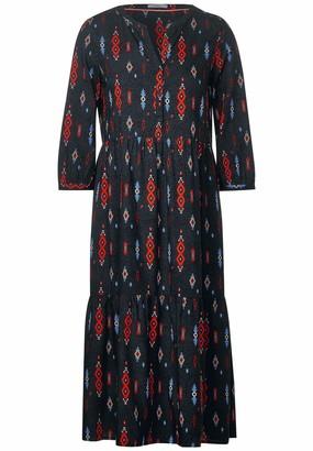 Cecil Women's 142757 Midi-Kleid im Ethno-Print Dress
