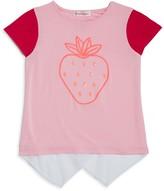 Design History Girls' Strawberry High Low Tee