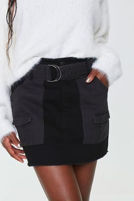 Forever 21 Belted Twill Mini Skirt