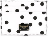 Dolce & Gabbana polka dot card holder - women - Calf Leather - One Size