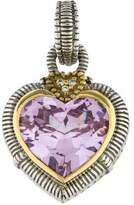 Judith Ripka Two-Tone Crystal & Diamond Heart Pendant