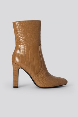 NA-KD Glossy Reptile Booties