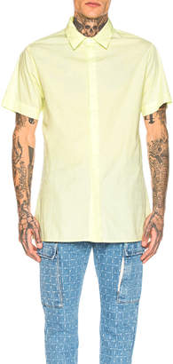 Alyx Stevie Button Up Shirt in Neon Yellow | FWRD