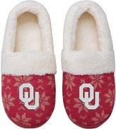 Unbranded Women's Oklahoma Sooners Ugly Knit Moccasin Slippers
