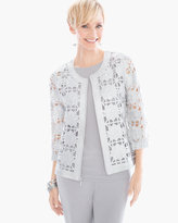 Chico's Foiled Lace Bomber Jacket