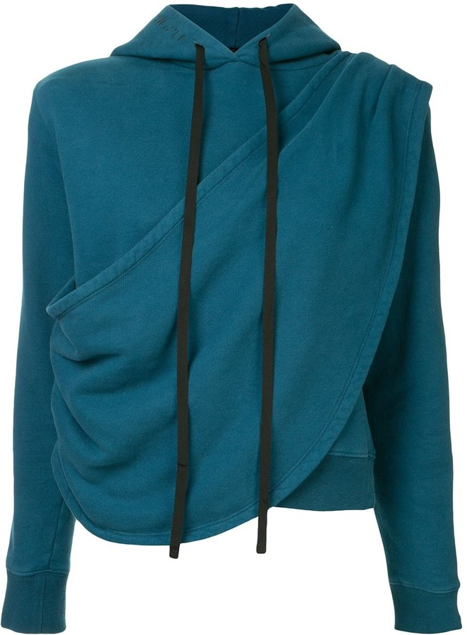 Unravel Project Terry Draped Hoodie