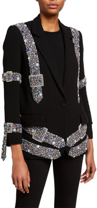 Libertine Beaded Belts Wool Blazer