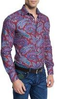 Etro Paisley-Print Long-Sleeve Sport Shirt