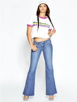 GUESS Women's Low-Rise Bell Bottom Jeans