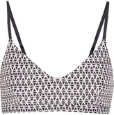 The Upside Majestic Ballet Printed Stretch Sports Bra - Black