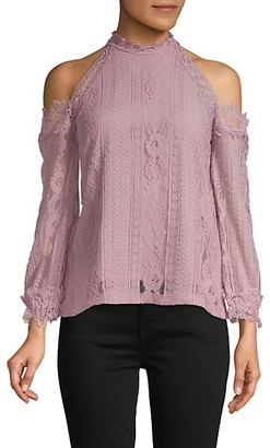Lea & Viola Cold Shoulder Lace Top