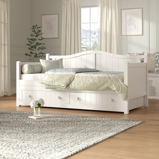 Birch LaneTM Heritage Twin Daybed with Trundle Birch LaneTM Heritage Color: Black