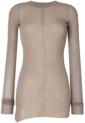 Rick Owens Fitted Ribbed Top