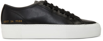 Common Projects Black and White Tournament Low Super Sneakers