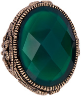 Barse Green Onyx Faceted Ring
